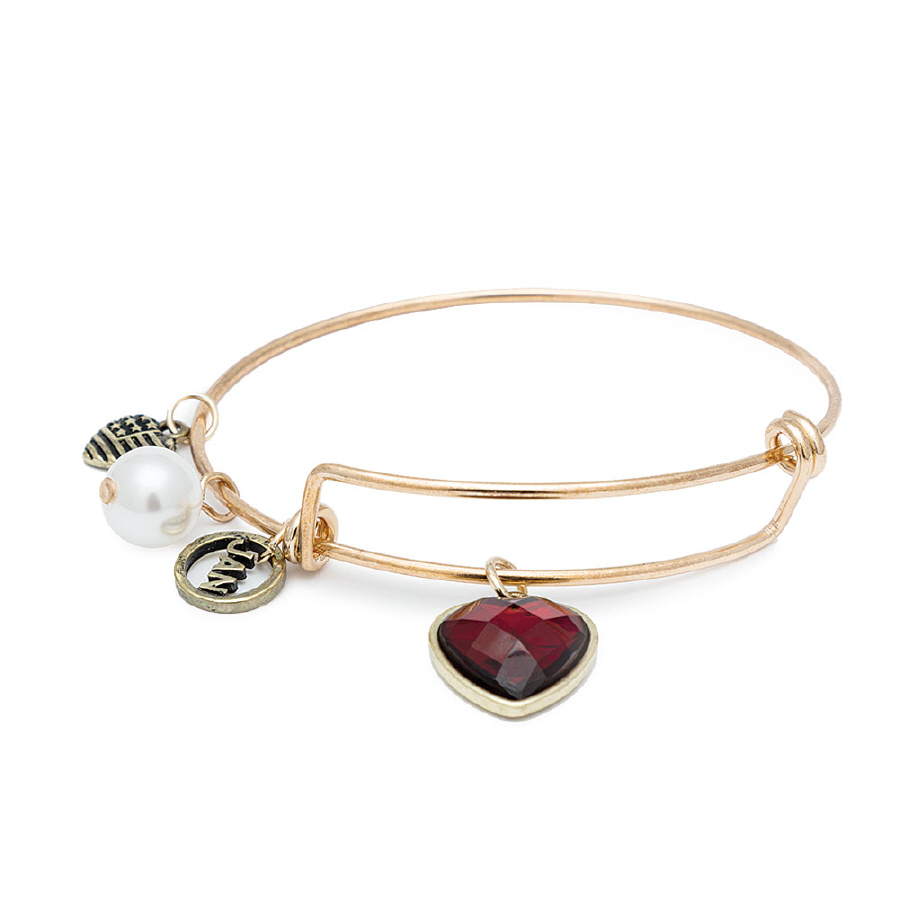 BIRTHSTONE BRACELET JANUARY IN GOLD