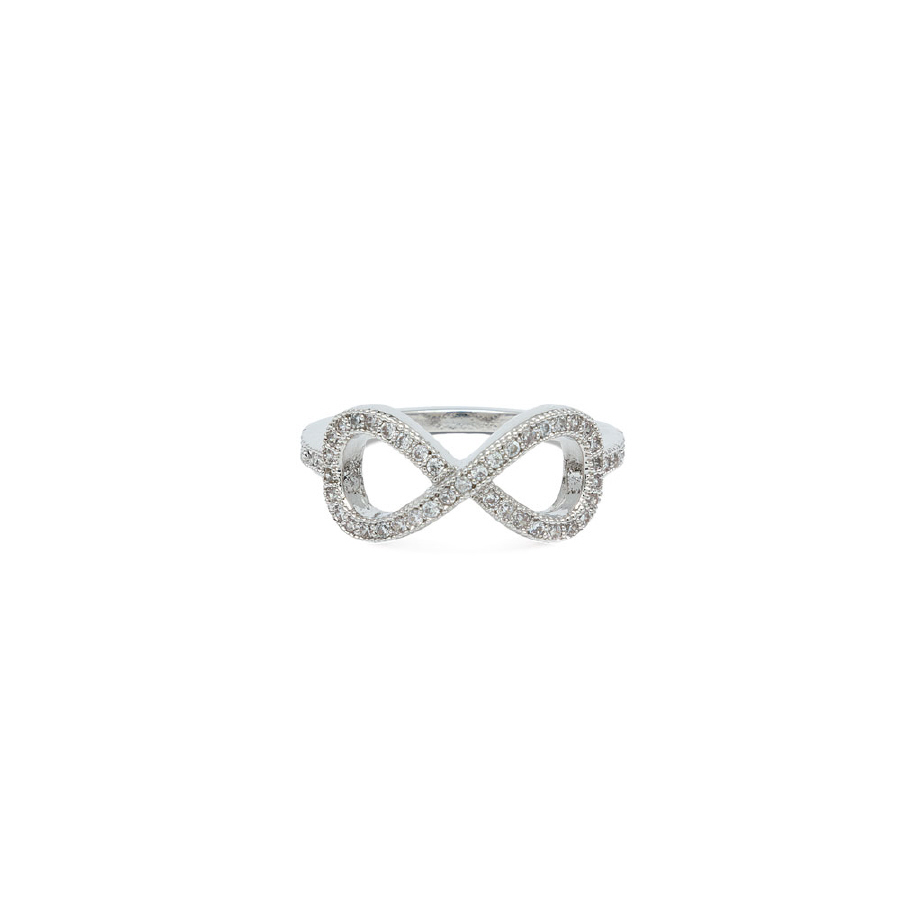 PAVE' CZ ETERNITY RING; CLEAR
